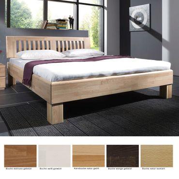 Massivholzbett Ascona Buche Farbe und Größe nach Wahl Futonbett Bett