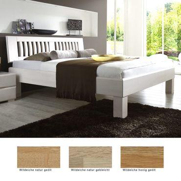 Massivholzbett Ascona Comfort Eiche Farbe und Größe nach Wahl Bett