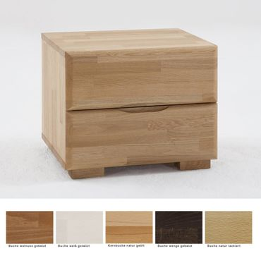 Nachttisch Blenio 1 48x41x40 Buche massiv Farbe nach Wahl Nachtkonsole