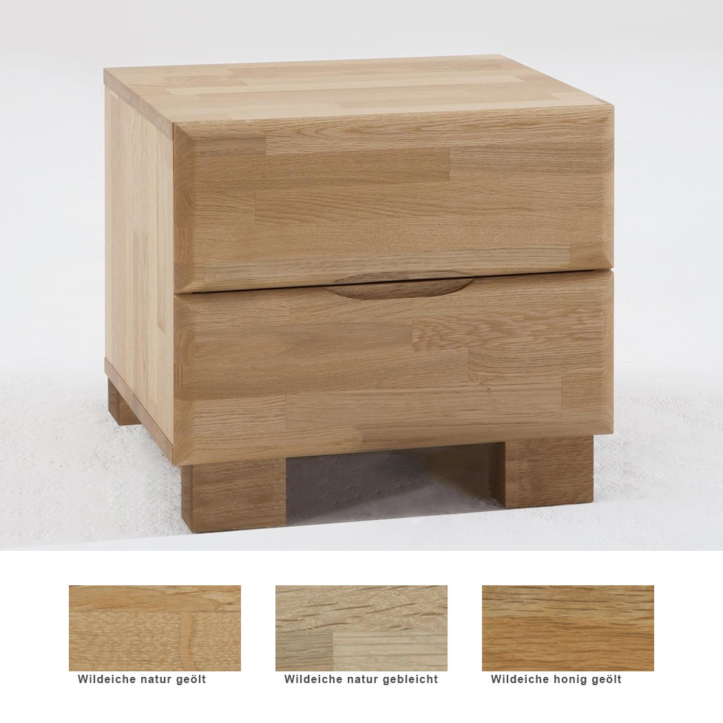 Nachttisch Blenio 2 Comfort 48x47cm Eiche Farbe nach Wahl ...