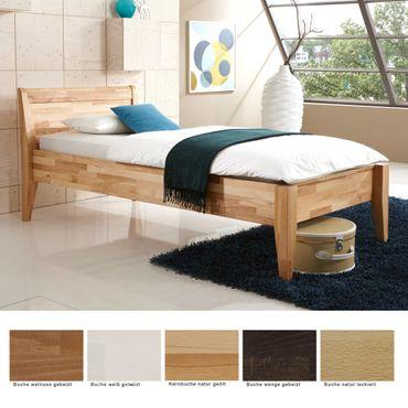Seniorenbett Vevey Comfort Buche massiv Farbe und Größe nach Wahl Bett
