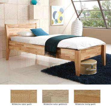 Seniorenbett Vevey Comfort Eiche massiv Farbe und Größe nach Wahl Bett