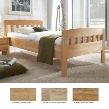 Seniorenbett Siders Comfort Eiche Holzbett Farbe und Größe nach Wahl