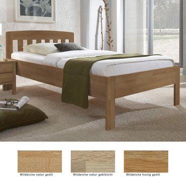 Seniorenbett Renens Comfort Eiche Holzbett Farbe und Größe nach Wahl