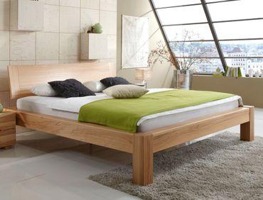 Massivholzbett Biel Premium Kernbuche Größe nach Wahl Futonbett Bett