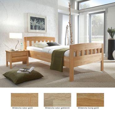 Seniorenbett Siders Comfort + Nachttisch Eiche Varianten Holzbett Nako