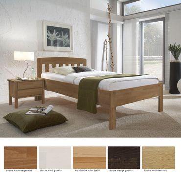 Seniorenbett Renens Comfort + Nachttisch Buche Varianten Holzbett Nako