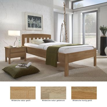 Seniorenbett Renens Comfort + Nachttisch Eiche Varianten Holzbett Nako