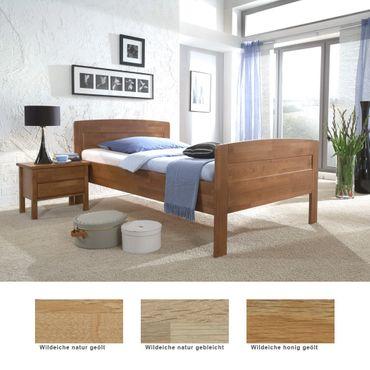 Seniorenbett Sion Comfort + Nachttisch Eiche Varianten Holzbett Nako
