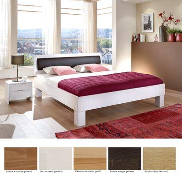 Massivholzbett Maurice Comfort + Nachttisch Buche Farben nach Wahl