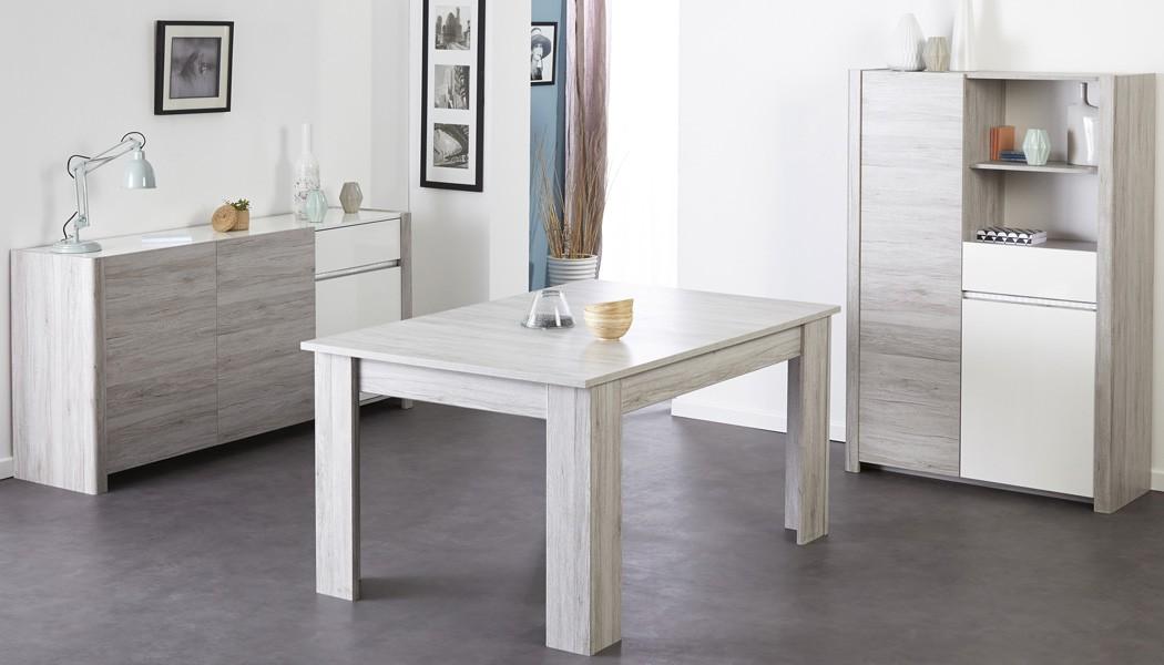 Esszimmer Luena 4 grau weiß Esstisch Highboard Sideboard Wohnzimmer ...