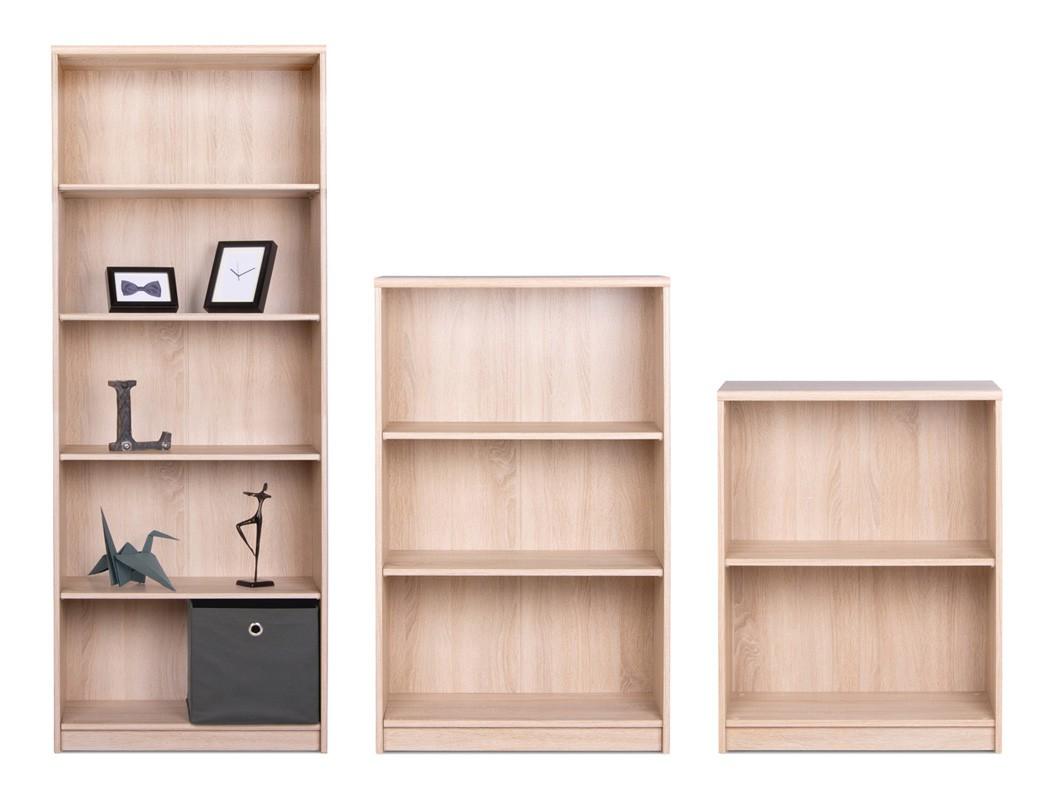 b cherregal koblenz eiche sonoma modell nach wahl regal medienregal wohnbereiche wohnzimmer regale. Black Bedroom Furniture Sets. Home Design Ideas