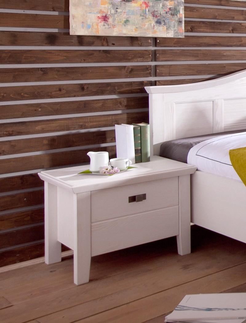 schlafzimmer cassa pinie wei bett 180x200 nachttisch. Black Bedroom Furniture Sets. Home Design Ideas