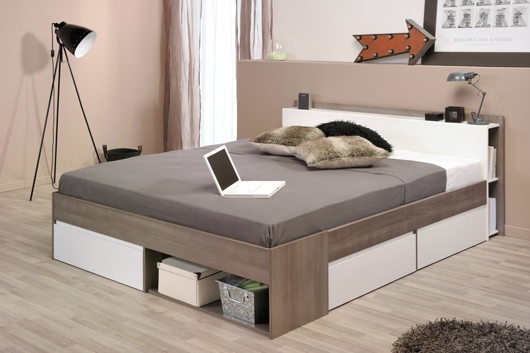 doppelbett morris 2 eiche nb 160x200 lattenrost matratze ehebett wohnbereiche schlafzimmer. Black Bedroom Furniture Sets. Home Design Ideas