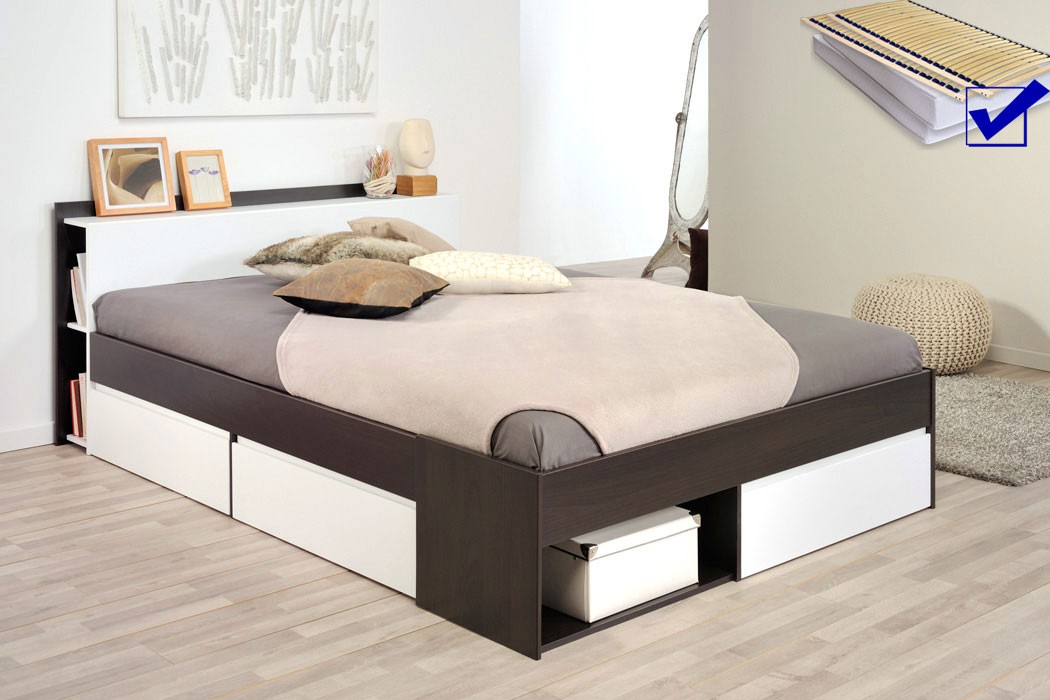 doppelbett morris 4 kaffeefarben 160x200 lattenrost matratze ehebett wohnbereiche schlafzimmer. Black Bedroom Furniture Sets. Home Design Ideas