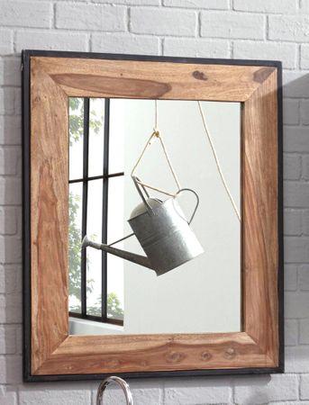Wandspiegel Bocas 82x97x3 cm Sheesham Altmetall Badezimmer Used Look
