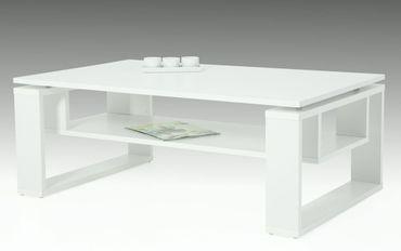 Couchtisch Tomke Weiß 110x70x42 cm Tisch Sofatisch Wohnzimmertisch