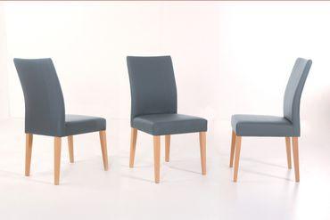 6x Stuhl Lana Kunstleder Polsterstuhl Varianten Esszimmerstuhl Massivholz