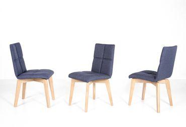 4x Stuhl Manja 2 Polsterstuhl Varianten Esszimmerstuhl Massivholzstuhl