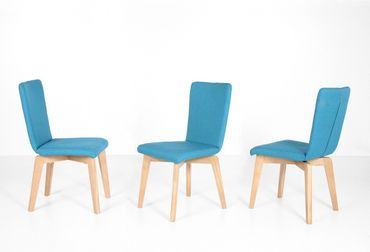 6x Stuhl Manja 3 Polsterstuhl Varianten Esszimmerstuhl Massivholzstuhl