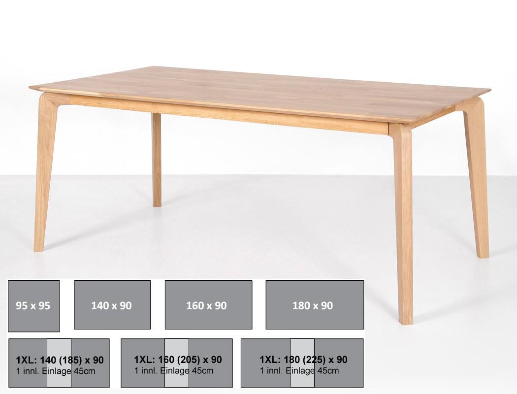 Erstaunlich Esstisch 160 Ausziehbar Dekoration Von Linao B Tisch Fest Oder Variante Massivholztisch