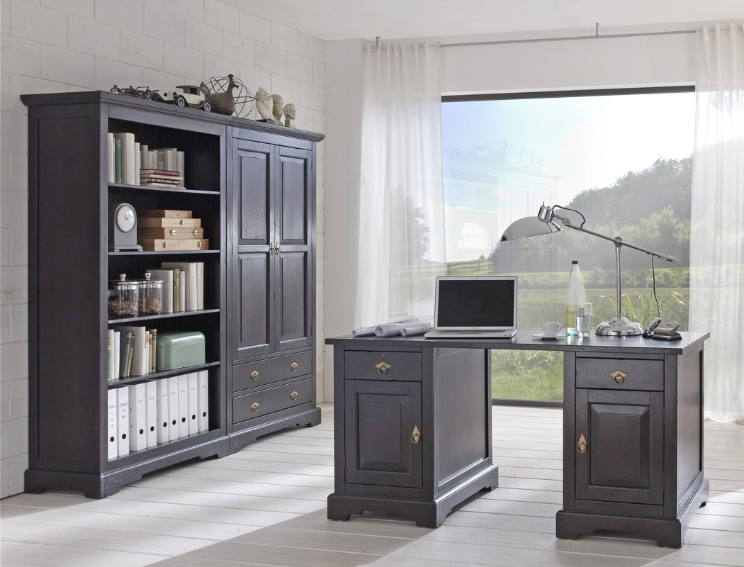 arbeitszimmer jammu 1 kolonial aktenschrank b cherregal schreibtisch wohnbereiche wohnzimmer. Black Bedroom Furniture Sets. Home Design Ideas