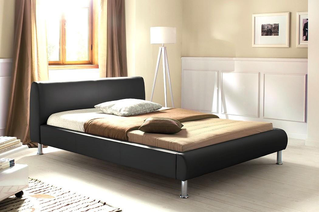 Polsterbett mirco 140x200 schwarz kunstleder singlebett designerbett wohnbereiche schlafzimmer - Designerbett 140x200 ...