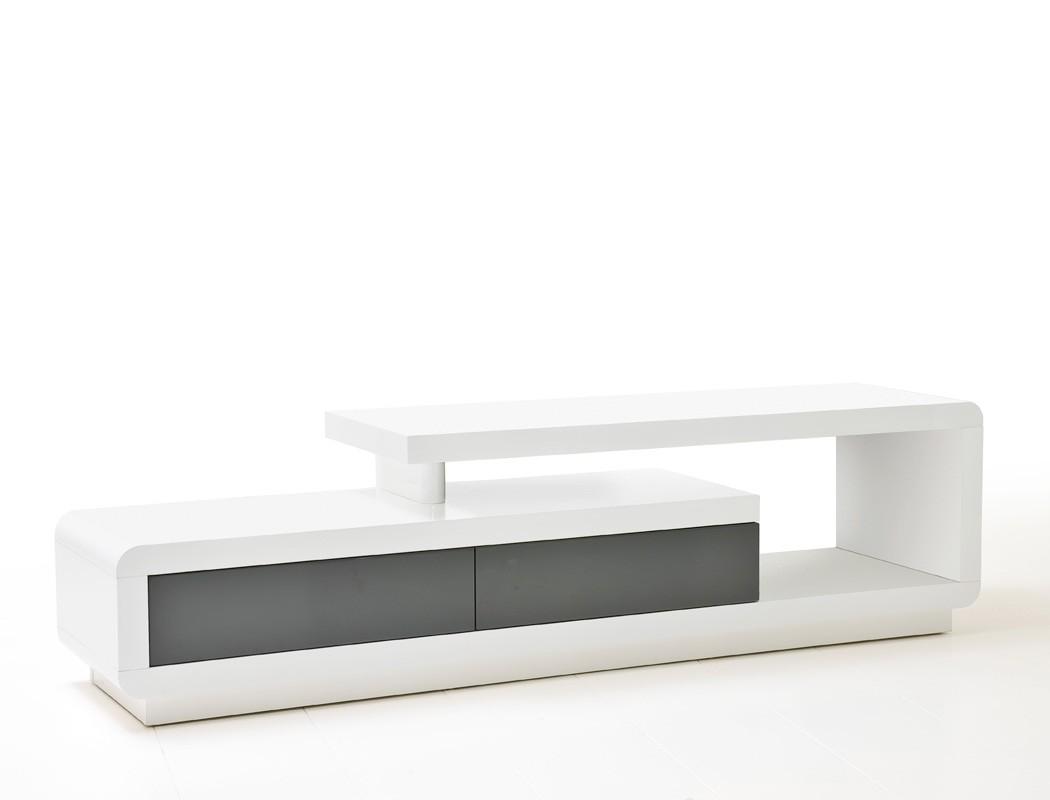 Lowboard Celine 170x45x40 cm Hochglanz weiß grau TV-Board TV-Möbel ...