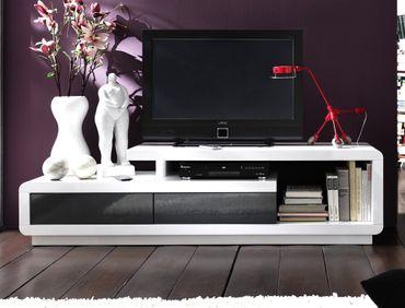 Lowboard Celine 170x45x40 cm Hochglanz weiß grau TV-Board TV-Möbel