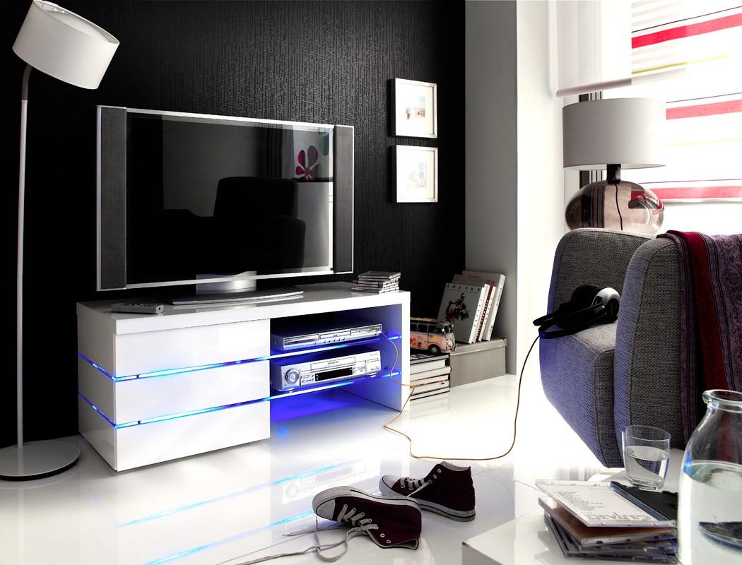lowboard sofia 110x44x42 cm wei tv board tv m bel led beleuchtung wohnbereiche wohnzimmer tv. Black Bedroom Furniture Sets. Home Design Ideas
