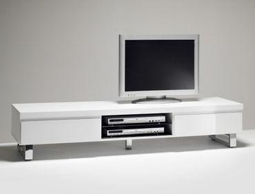 Lowboard Perth 167x40x42cm Hochglanz weiß TV-Board TV-Möbel TV-Schrank