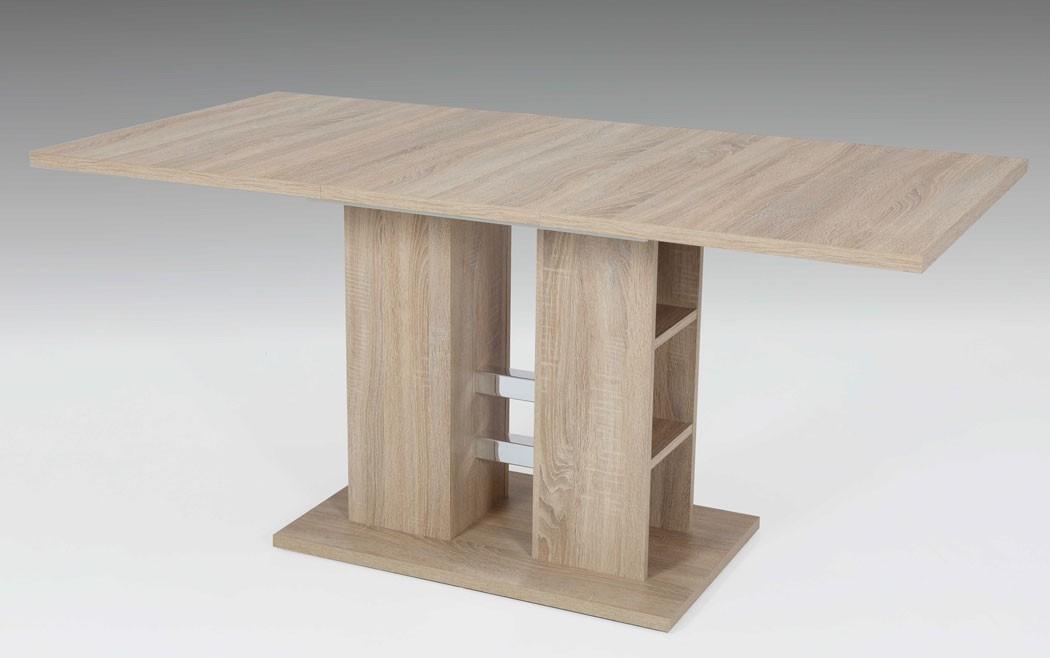 s ulentisch stine 120 160 x80 cm sonoma eiche esstisch ausziehtisch wohnbereiche esszimmer esstische. Black Bedroom Furniture Sets. Home Design Ideas