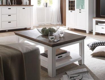 Couchtisch Barnelund 110x70x45 Akazie weiß Sofatisch Tisch Wohnzimmer