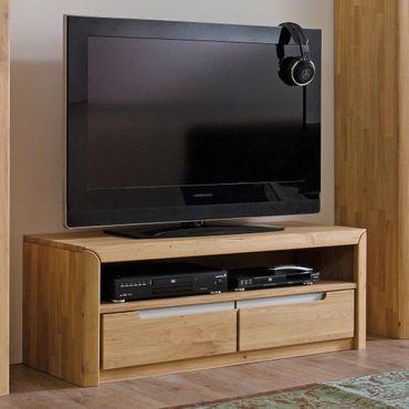 Lowboard Pisa 7 Eiche bianco massiv 114x43x46 cm TV-Möbel TV-Schrank
