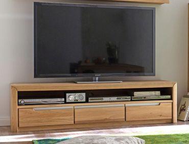 Lowboard Pisa 8 Eiche bianco massiv 165x43x46 cm TV-Möbel TV-Schrank