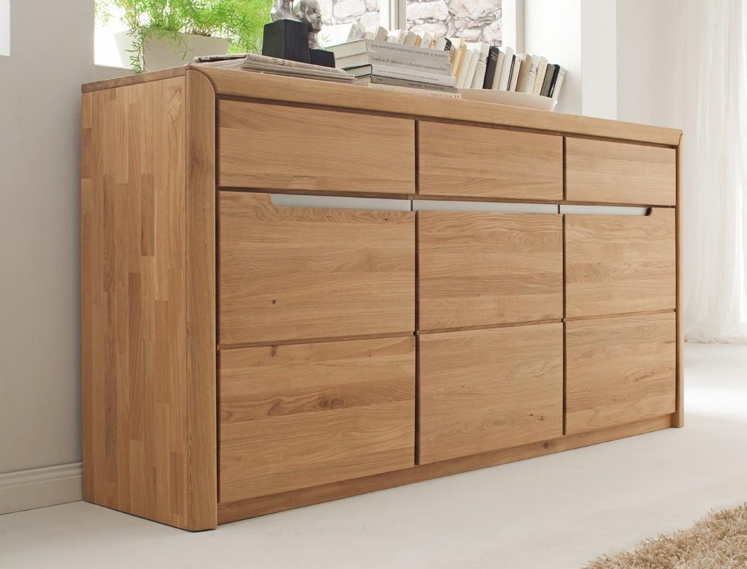 sideboard eiche massiv bianco 180x90x41 cm anrichte. Black Bedroom Furniture Sets. Home Design Ideas