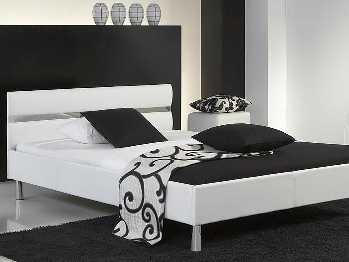 polsterbett easton 140x200 wei kunstleder singlebett jugendbett bett wohnbereiche schlafzimmer. Black Bedroom Furniture Sets. Home Design Ideas