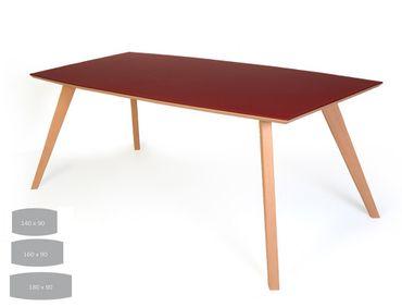 Esstisch Tromsa Vidrio Tisch mit Glasplatte bootsform Varianten
