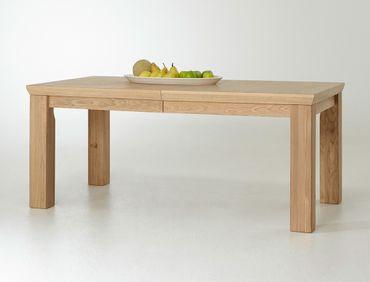 Esstisch Verena 13 Eiche bianco teilmassiv 180(280)x100x78 cm Tisch