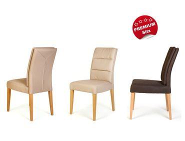 4x Stuhl Flavia 3 Premiumsitz Rückenkissen Polsterstuhl Esszimmerstuhl