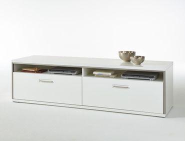 Lowboard Travis 8 weiß Hochglanz 184x51x52 cm TV-Möbel TV-Schrank