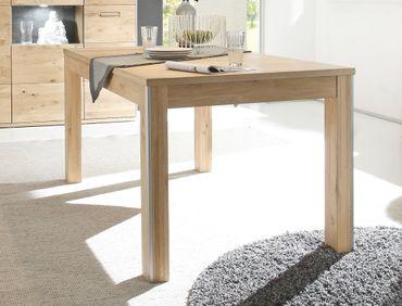 Esstisch Esma 14 Eiche bianco teilmassiv 160(260)x90x77 cm Tisch