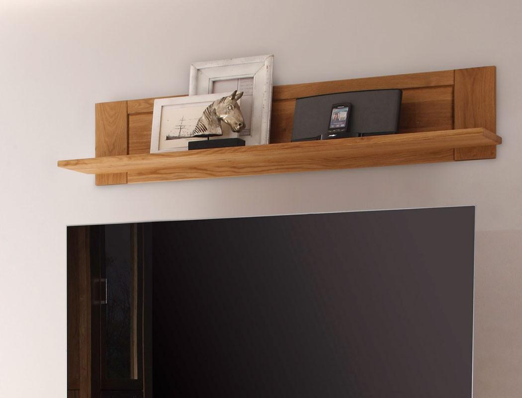 wandboard viterbo 150x30x20 cm wildeiche funiert b cherboard regal wohnbereiche wohnzimmer regale. Black Bedroom Furniture Sets. Home Design Ideas