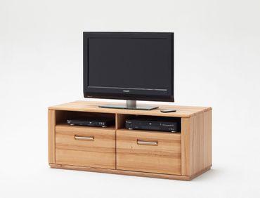 Lowboard Senta 7 Kernbuche teilmassiv 124x50x51 TV-Möbel TV-Schrank