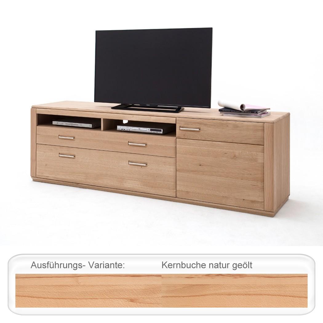 Lowboard Kernbuche Teilmassiv 224x70x51 TV-Möbel TV