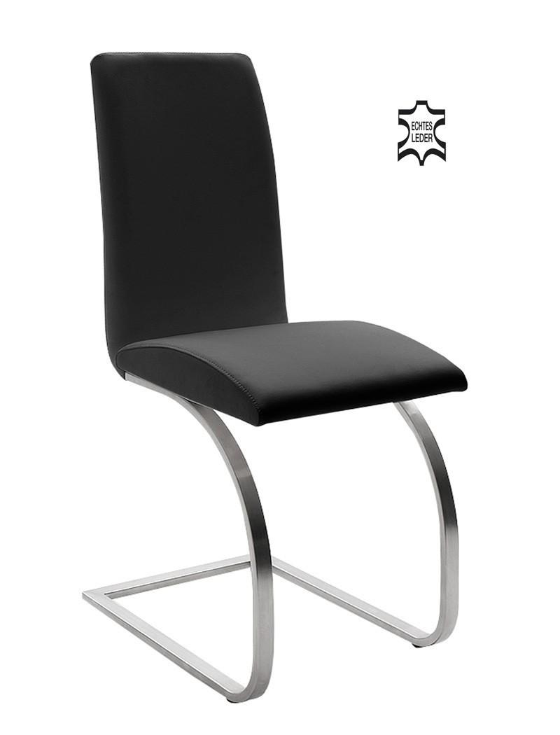 6x Schwingstuhl Maira Echtleder Varianten Freischwinger