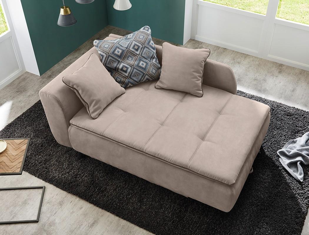 Recamiere 170x108 Cm Beige Ottomane Schlafsofa Couch Sofa Bettkasten