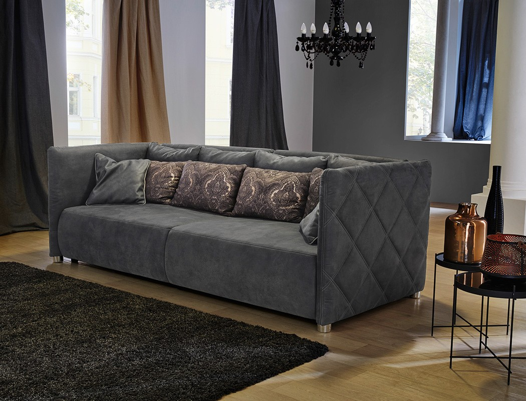 big sofa tristan 260x120 cm nabukoptik grau wohnlandschaft couch sofa wohnbereiche wohnzimmer. Black Bedroom Furniture Sets. Home Design Ideas