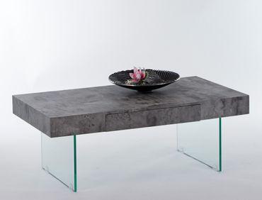 Couchtisch Delia 110x60x42 cm Beton Dekor Sofatisch Beistelltisch