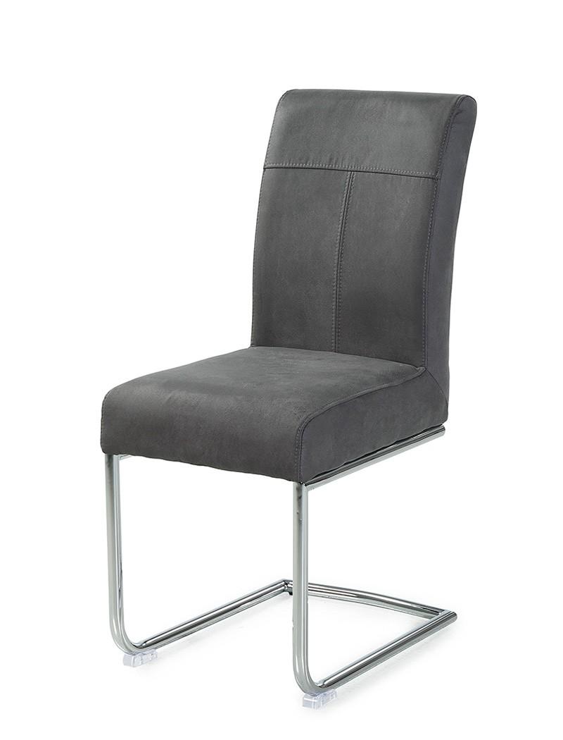 schwingstuhl fabio stoff grau freischwinger esszimmerstuhl st hle wohnbereiche esszimmer st hle. Black Bedroom Furniture Sets. Home Design Ideas